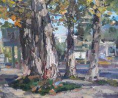 Выставка пейзажей Алматы «Прогулки по городу»