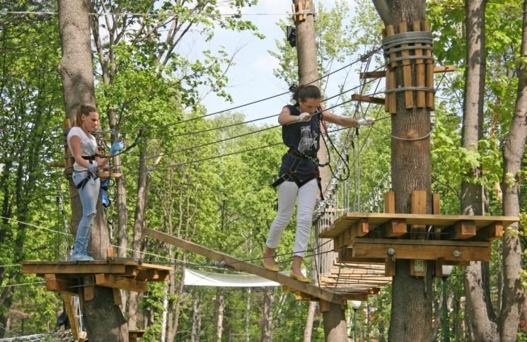 Веревочный парк открылся в Алматинском зоопарке