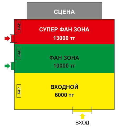 Схема зала Агата Кристи