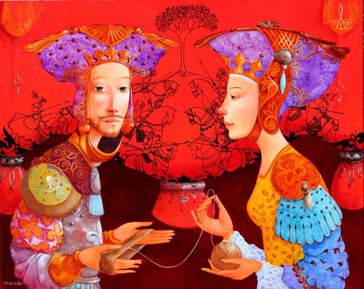 Выставка известной грузинской художницы Ирмы Кусиани