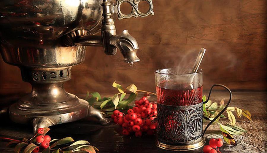 Фото самовар чай