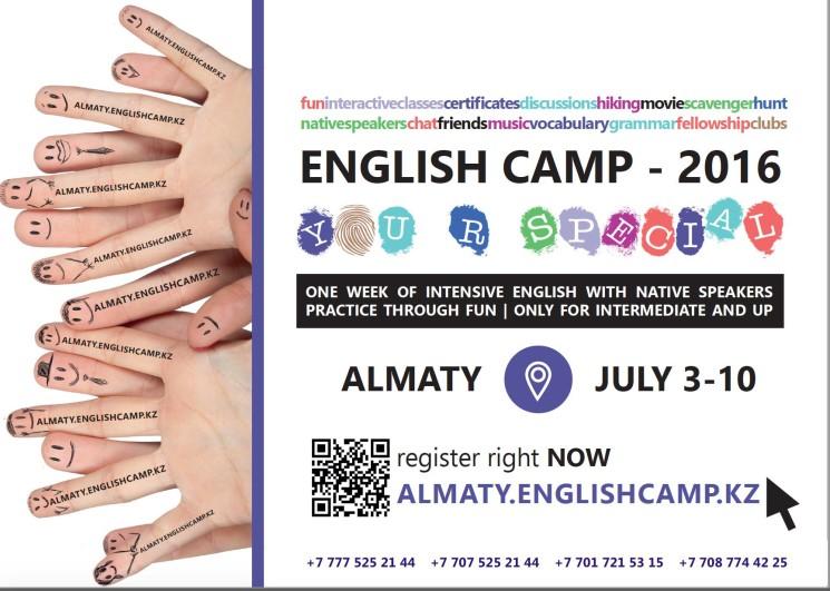 """English Camp """"U r special"""" Almaty 2016"""