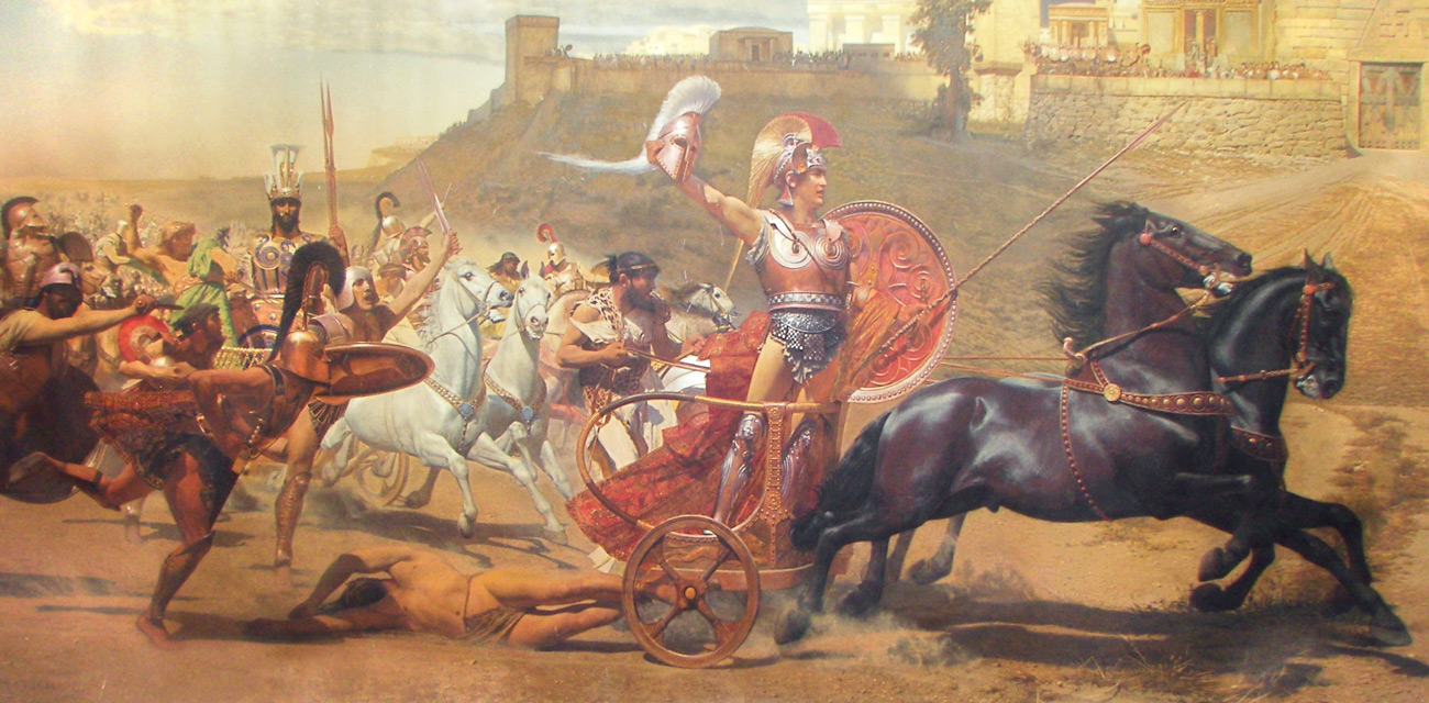 an analysis of the character of paris in the trojan war