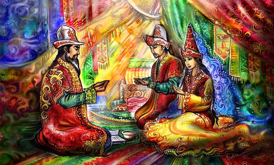 Традиции казахского народа картинках