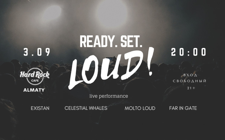 Ready. Set. LOUD!