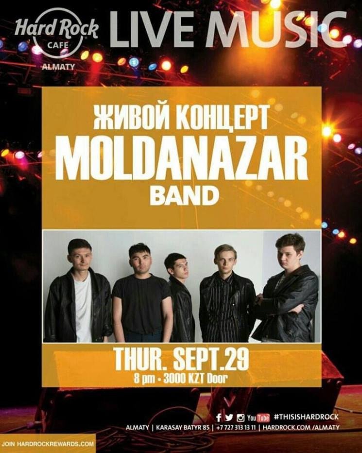 """живой концерт группы """"Moldanazar"""""""