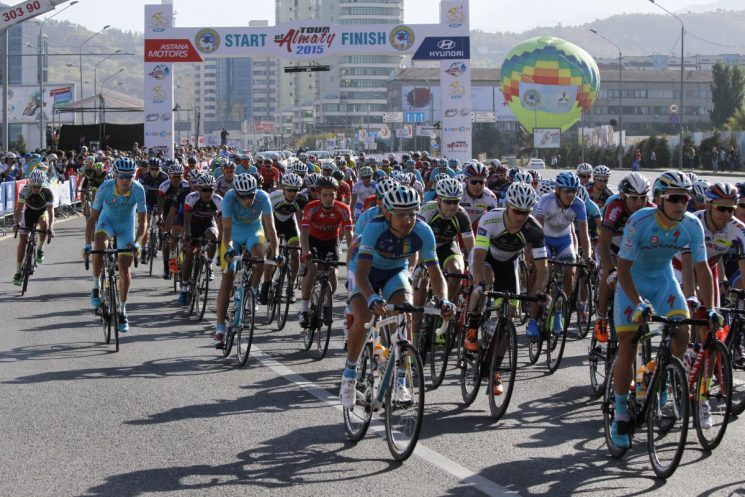 "Велогонка ""Tour of Almaty 2016"""