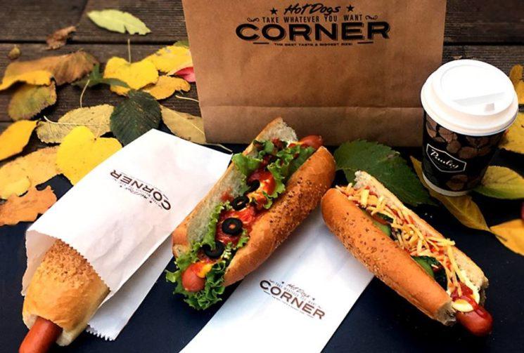 hot dog corner