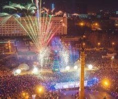 Празднование Нового года в Алматы