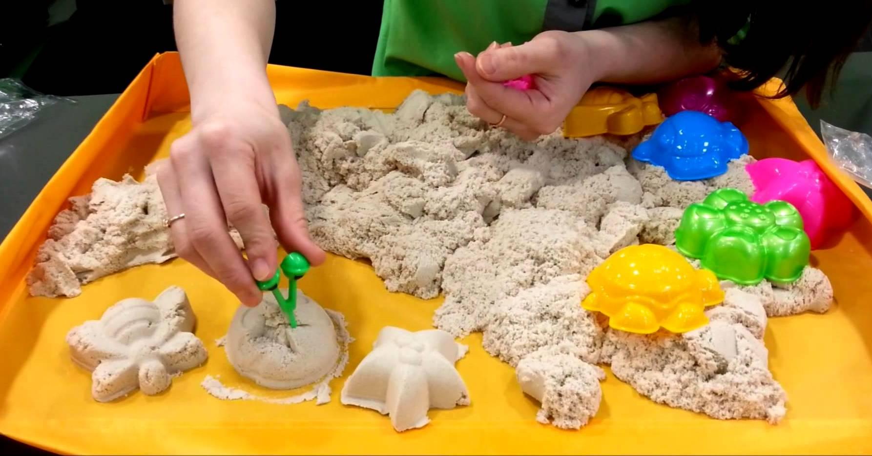 Как сделать кинетический песок домашних условиях без песка 661