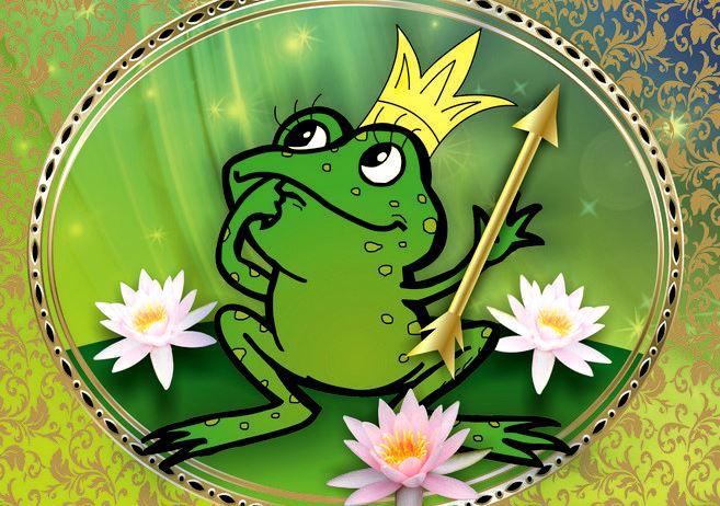 Открытка лягушка-царевна, приглашением выпускной детского