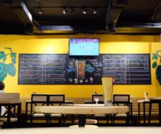 Kraftwerk bar. Taproom and kitchen