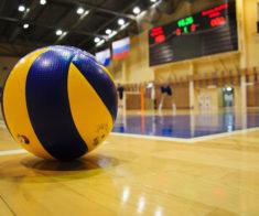 Соревнования по волейболу среди студентов