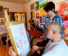 Выставка учеников и преподавателей студии «Raphael»