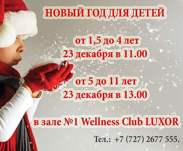 Новогодний праздник для детей в Wellness Club Luxor