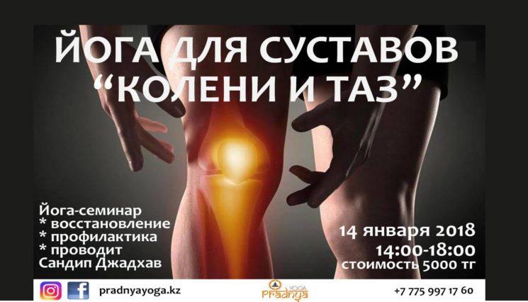 Семинар «Йога для суставов: колени и таз»