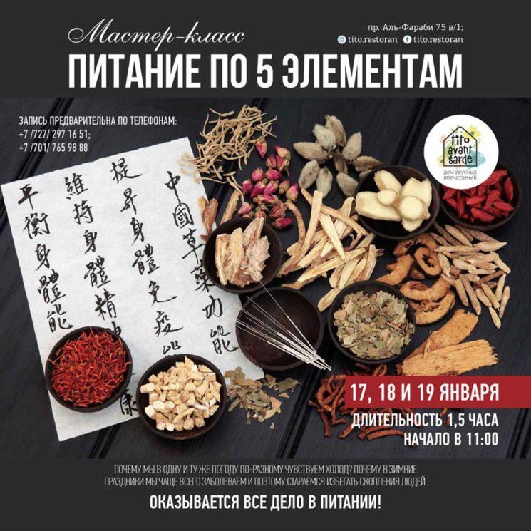 Мастер-класс «Питание по системе 5 элементов»