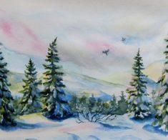 Мастер — класс по живописи «Зимушка зима»