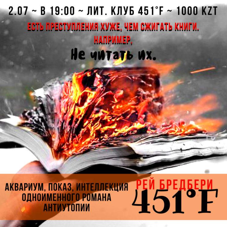 Показ фильма 451 Градус по Фаренгейту