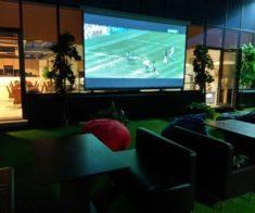 Трансляции футбольных матчей в баре Tree House