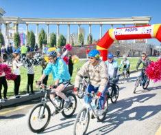Велопробег посвящается чемпионату мира по футзалу