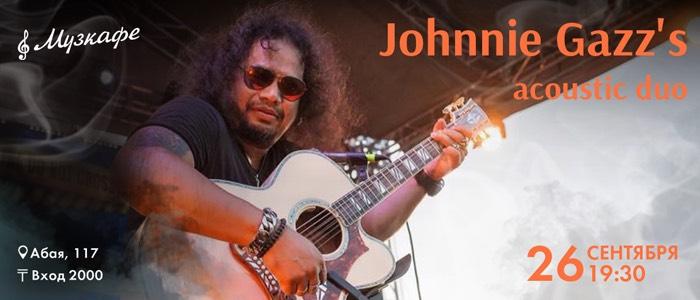 Выступление Johnnie Gazz's acoustic duo в Музкафе