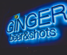 Ginger beer & shots bar