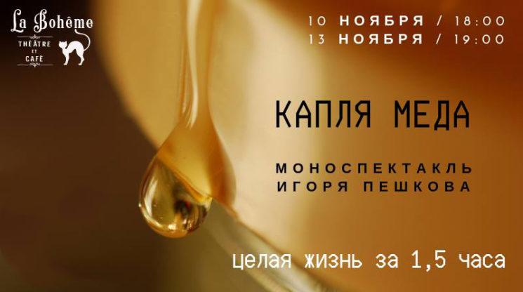 """Моноспектакль """"Капля меда"""""""
