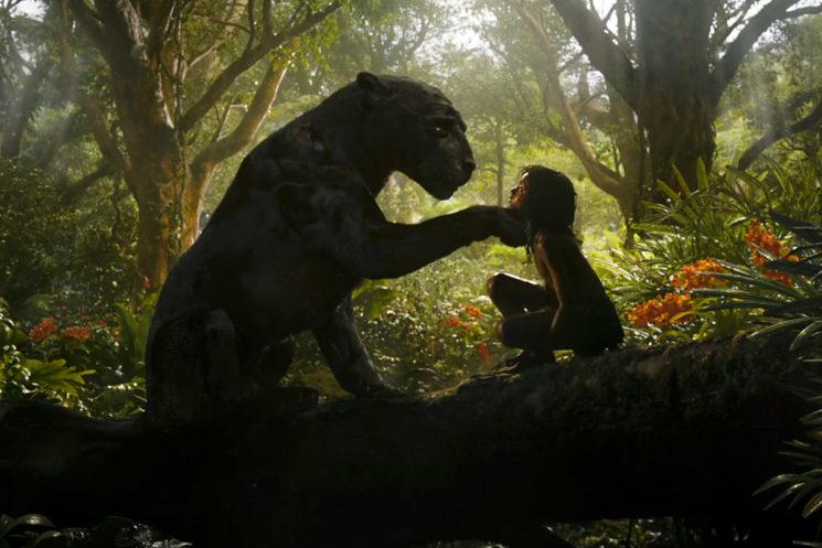 "Bagheera and Rohan Chand as ""Mowgli"" in the Netflix film ""Mowgli: Legend of the Jungle"""