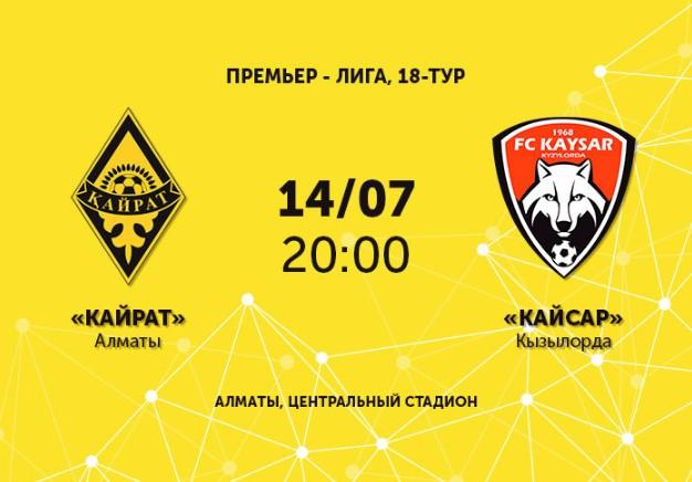 Футбол: «Кайрат» - «Кайсар»