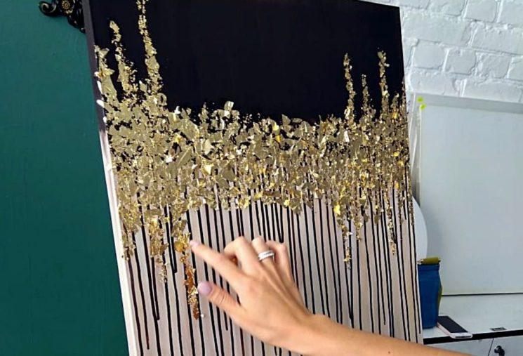 Мастер-класс «Интерьерная картина с золотой поталью»
