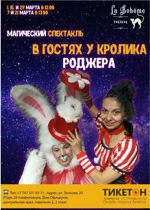 Магический спектакль «В гостях у кролика Роджера»