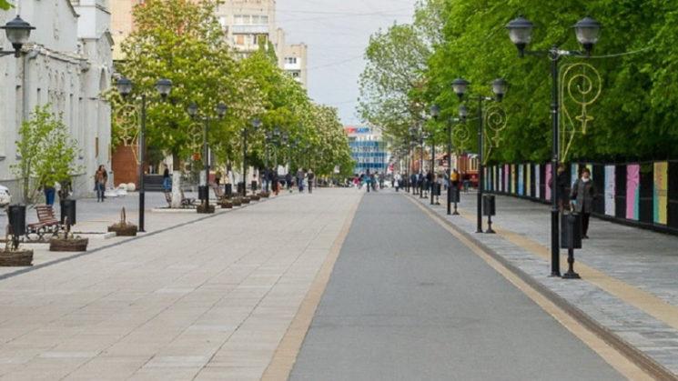 Новая пешеходная улица в Алматы