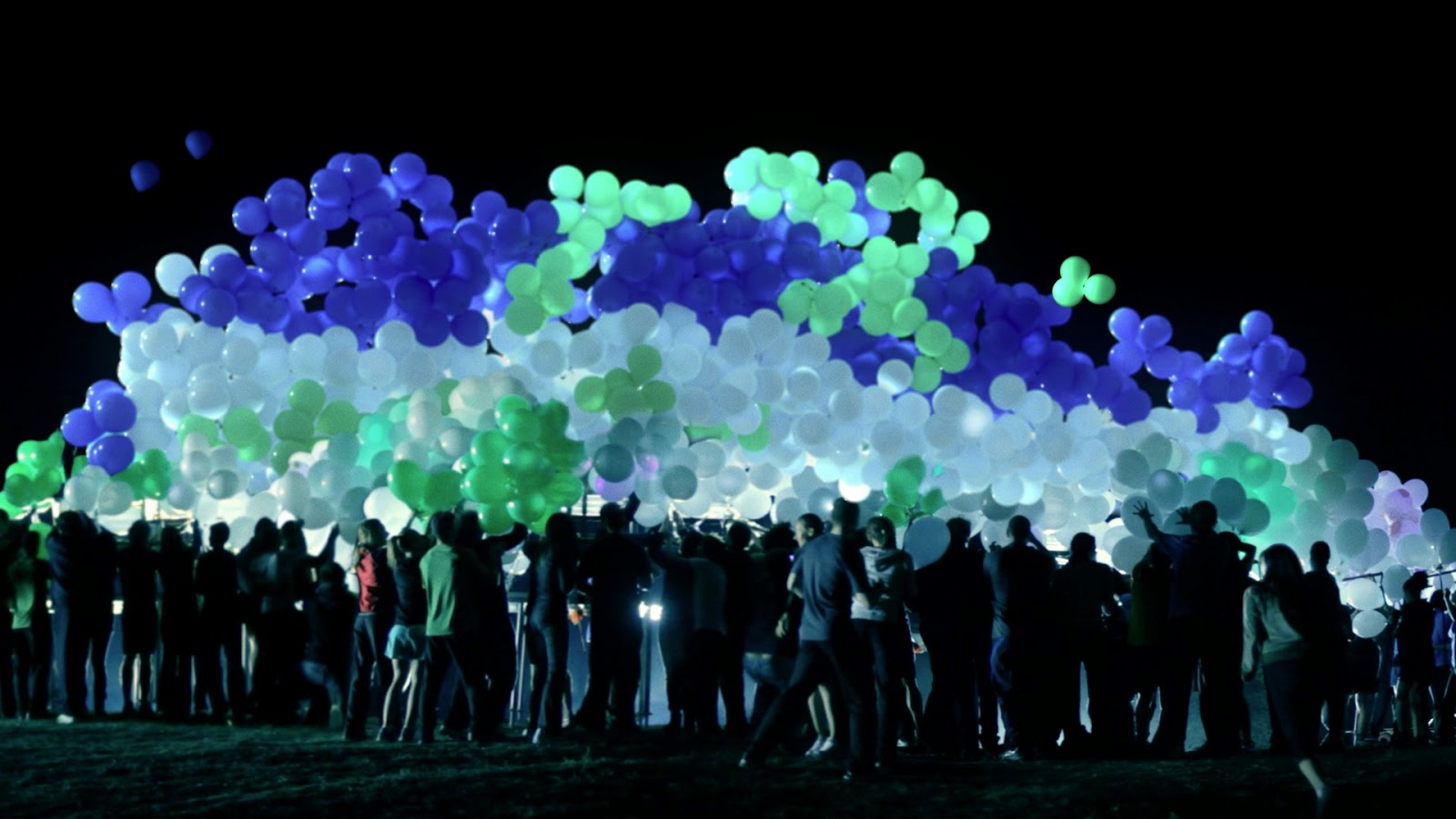 Фото светящихся шаров на свадьбу