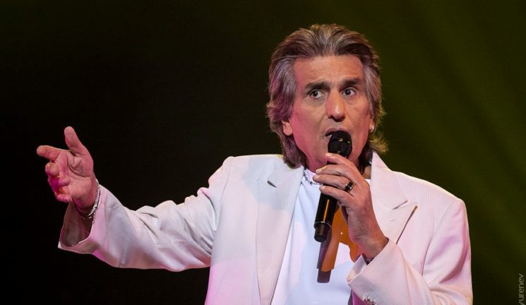 "The concert of the famous Italian pop singer-songwriter and musician Toto Cutugno in National Palace of Arts ""Ukraina"", Kiev."