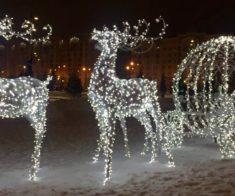 Новогодние инсталляции в Астане