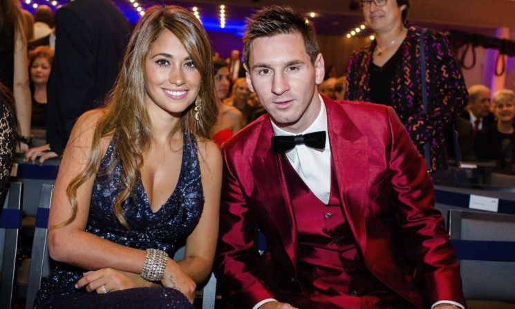 Lionel Messi and wife
