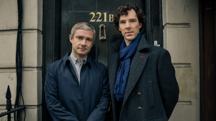 Sherlock Season 3 Sundays January 19 - February 2, 2014 10pm ET on MASTERPIECE on PBS Sherlock Holmes stalks again in a third season of the hit modern version of the Arthur Conan Doyle classic, starring Benedict Cumberbatch as the go-to consulting detective in 21st-century London and Martin Freeman as his loyal friend, Dr. John Watson. Shown from left to right: Martin Freeman as Dr. John Watson and Benedict Cumberbatch as Sherlock Holmes © Robert Viglasky/Hartswood Films for MASTERPIECE