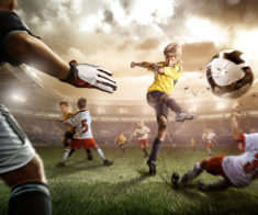 Детская футбольная суббота на стадионе