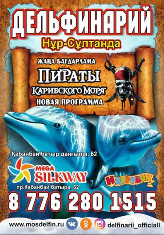 """Шоу дельфинов: """"Дельфины и Пираты Карибского моря"""""""
